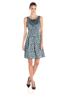 Adrianna Papell Women's Fit and Flare Jacquard Dress