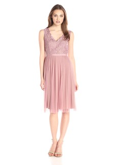 Adrianna Papell Women's Fit and Flare Lace Combo