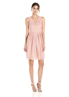 Adrianna Papell Women's Fit and Flare Lace Dress