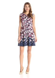Adrianna Papell Women's Fit and Flare Printed Dress