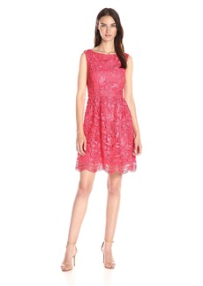 Adrianna Papell Women's Fit-and-Flare Venice Lace Dress