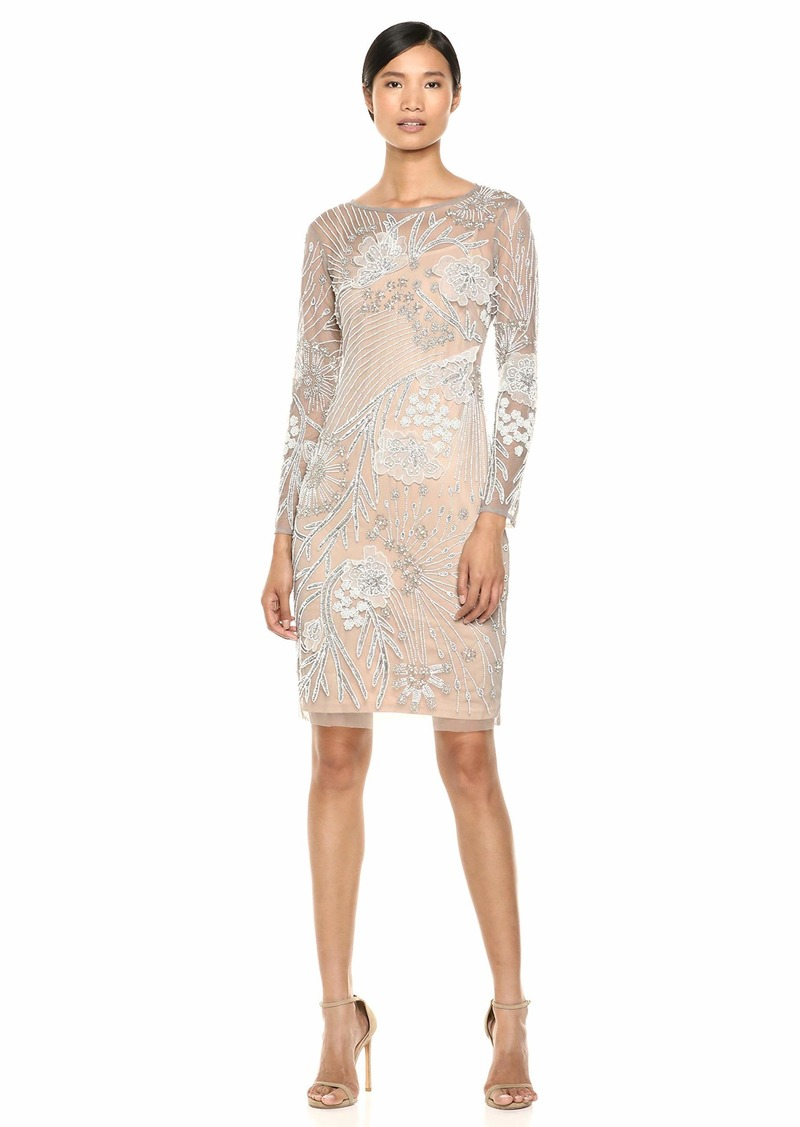 Adrianna Papell Women's Floral Beaded Dress