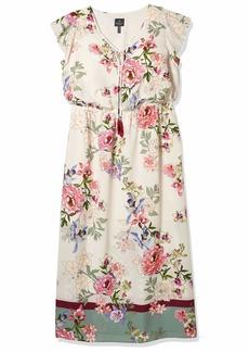 Adrianna Papell Women's Floral Border Print Maxi Dress