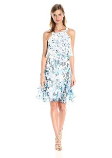 Adrianna Papell Women's Floral Cascade Shift Dress