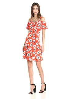 Adrianna Papell Women's Floral Cold Shoulder Dress  XS