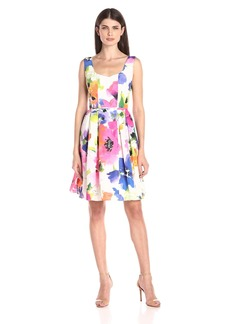 Adrianna Papell Women's Floral Fit-and-Flare Dress