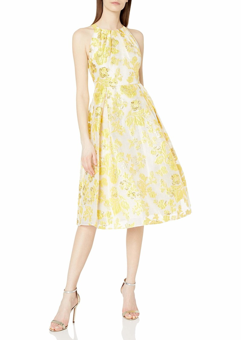 Adrianna Papell Women's Floral Jacquard Party Dress