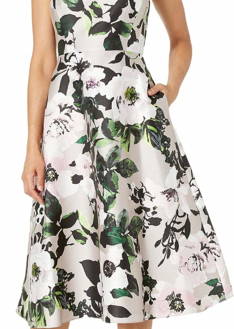 Adrianna Papell Women's Floral Tea Length Dress