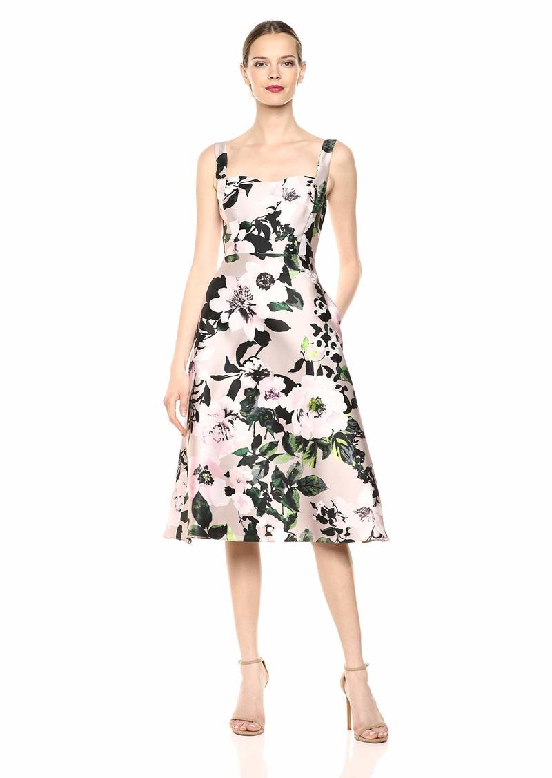 Adrianna Papell Women's Floral Tea Length Dress