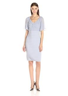 Adrianna Papell Women's Flutter Sleeve Top Matte Jersey Dress