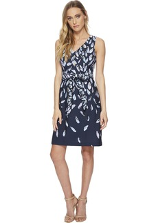 Adrianna Papell Women's Fluttering Beauty Printed Knit FIT and Flare