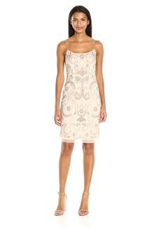 Adrianna Papell Women's Fully Beaded Cocktail Slip Dress