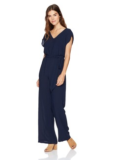 Adrianna Papell Women's Gauzy Crepe Belted Jumpsuit