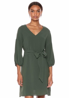 Adrianna Papell Women's Gauzy Crepe Bubble Sleeve DRES