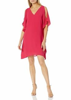 Adrianna Papell Women's Gauzy Crepe Caftan Dress