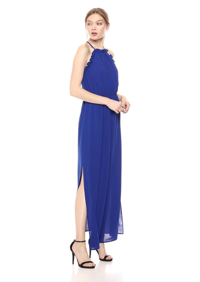Adrianna Papell Women's Gauzy CREPERUFFLE Maxi Dress