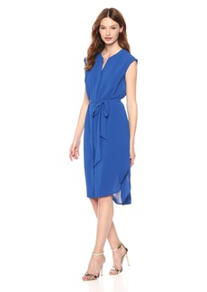 Adrianna Papell Women's Gauzy GREPE Shirt Dress