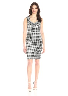 Adrianna Papell Women's Gingham Jacquard Dress