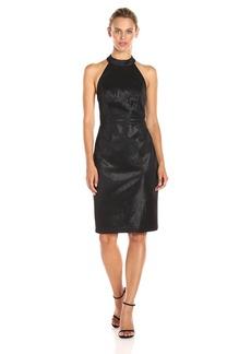 Adrianna Papell Women's Glam Stretch Halter Shift Dress