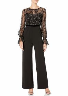 Adrianna Papell Women's Glitter Velvet Jumpsuit