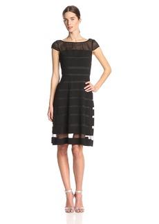 Adrianna Papell Women's Chiffon Banded Dress black