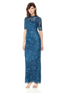 Adrianna Papell Women's Guipure Long Dress