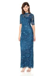 Adrianna Papell Women's Guipure Long Dress