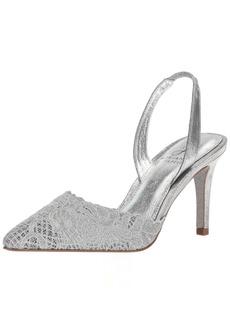 Adrianna Papell Women's Hallie Pump Silver attalie lace