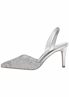 Adrianna Papell Women's Hallie Pump Silver attalie lace  M US
