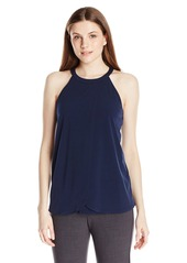 Adrianna Papell Women's Halter Front Tiered Top
