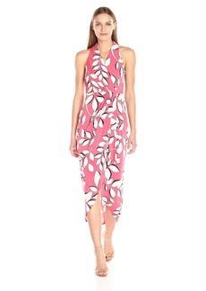 Adrianna Papell Women's Halter Neck High Low Wrap Dress  L