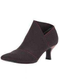 Adrianna Papell Women's Hayes Ankle Boot CHOCOALTE Waldo Stretch  Medium US