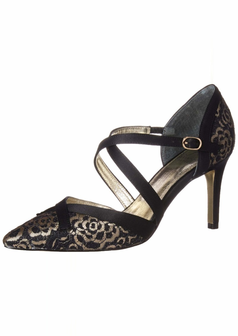 Adrianna Papell Women's Hepburn Pump Black Floro lace  M US