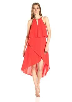 Adrianna Papell Women's Hi Lo Halter Dress