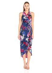 Adrianna Papell Women's High Low Wrap Dress  XS