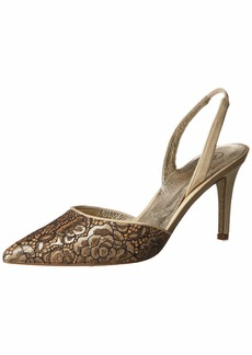 Adrianna Papell Women's Houston Pump Rose Gold Floro lace