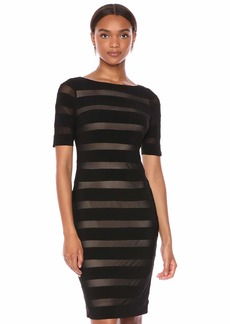 Adrianna Papell Women's Illusion Banded Sheath Dress