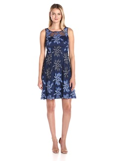 Adrianna Papell Women's Issn Tp Sleevless Fit N Flare