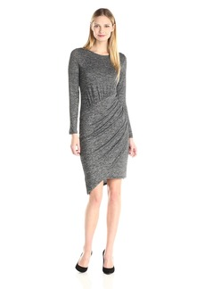 Adrianna Papell Women's Jaspee Knit Scoop Neck Rushed Dress