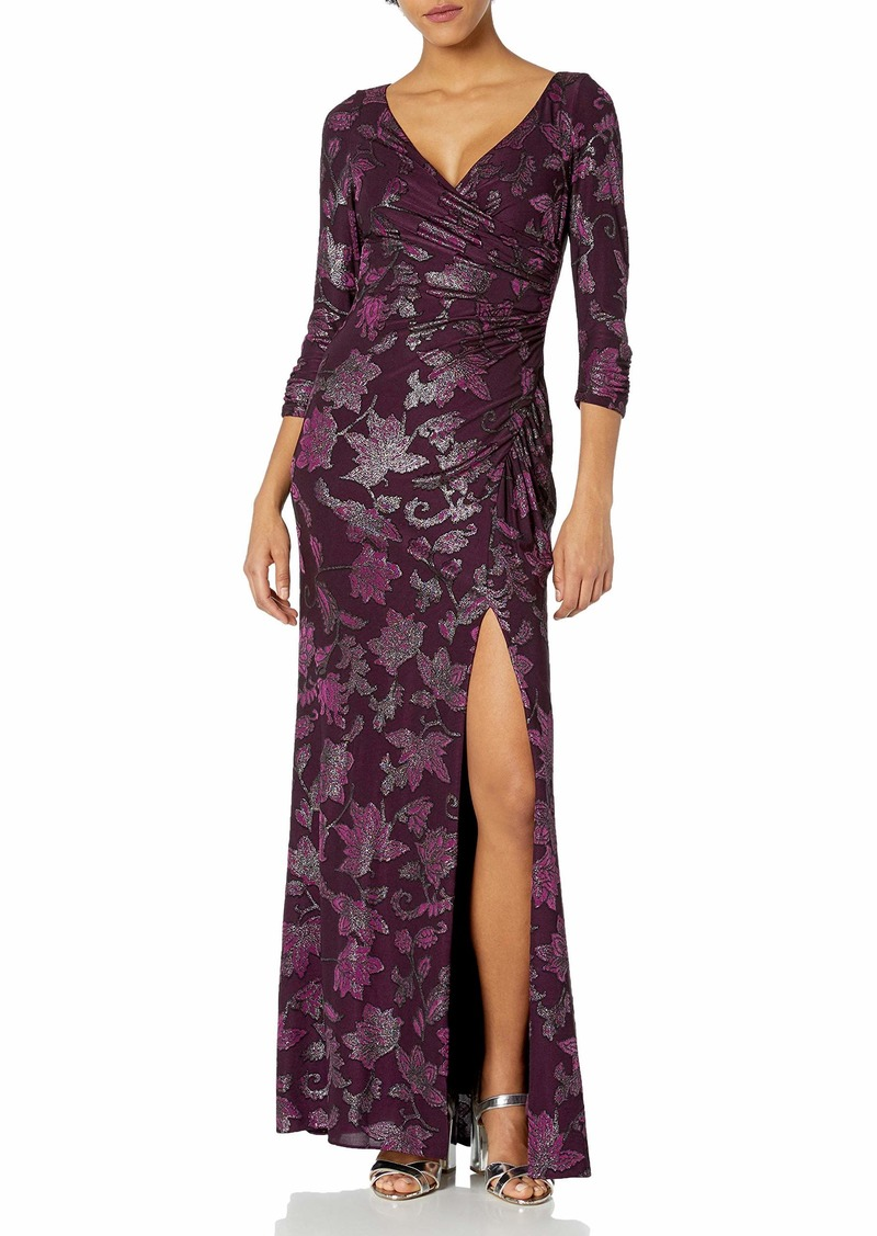 Adrianna Papell Women's Jersey Draped Gown