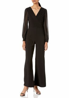 Adrianna Papell Women's Jersey Jumpsuit with Sleeve
