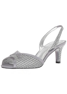 Adrianna Papell Women's Jolene Heeled Sandal ant Silver  M US