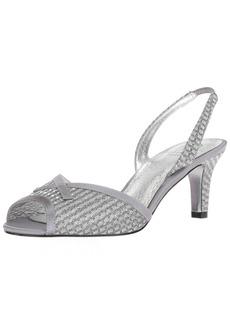 Adrianna Papell Women's Jolene Heeled Sandal ant Silver  M US