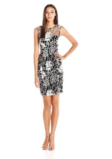 Adrianna Papell Women's Kahlo Sleeveless Lace Sheath Dress