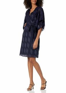 Adrianna Papell Women's Kimono Sleeve Chiffon Dress