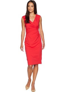 Adrianna Papell Women's Knit Crepe Draped Sheath Dress
