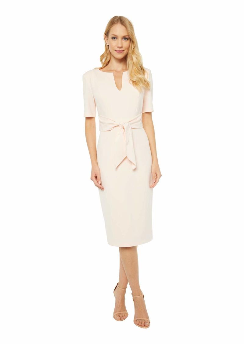 Adrianna Papell Women's Knit Crepe TIE Sheath Dress