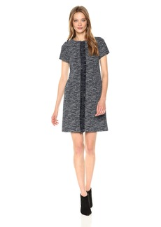 Adrianna Papell Women's Knit Tweed Shift Dress