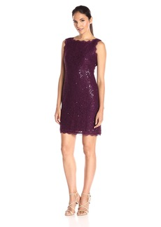 Adrianna Papell Women's Lace and Sequin Cocktail Dress