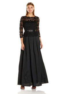 Adrianna Papell Women's Lace and Taffeta Ball Gown